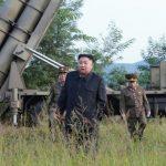 북한 김정은 방사포