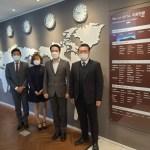 사진은 국제통상전략연구원의 '2020년 차세대 성공사례 발표회'에 참석한 허성문 회원, 김효임 회원, 송윤일 회원, 장성오 회원(왼쪽부터)